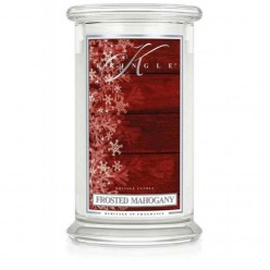KRINGLE CANDLE FROSTED MAHOGANY GIARA GRANDE