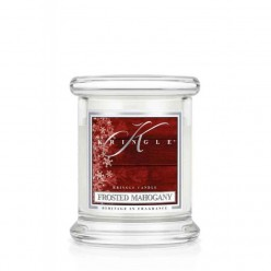 KRINGLE CANDLE FROSTED MAHOGANY GIARA PICCOLA