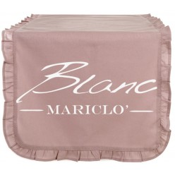 RUNNER CON GALETTA ROSE POWDER BLANC MARICLO'