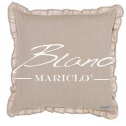 CUSCINO ARREDO CON GALETTA BICOLOR BLANC MARICLÓ