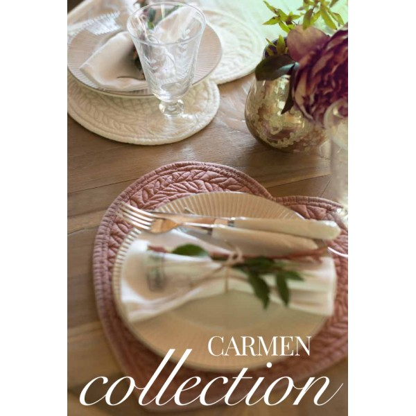 Set Americano Cuore Carmen Blanc Mariclò